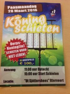 Flyer Koningschieten Ittervoort 2016